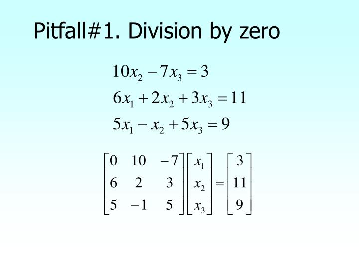 Pitfall#1. Division by zero