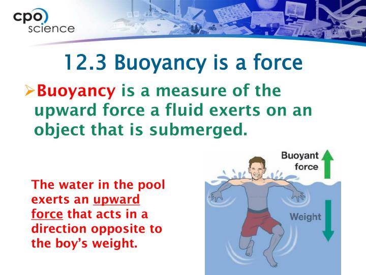 Ppt 12 3 Buoyancy Is A Force Powerpoint Presentation