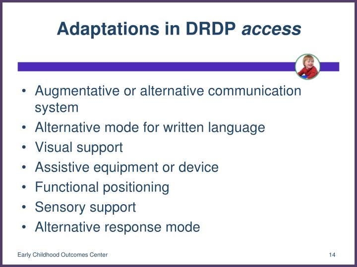 Adaptations in DRDP