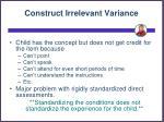 construct irrelevant variance