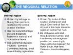the regional relation