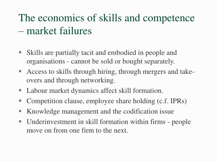 The economics of skills and competence
