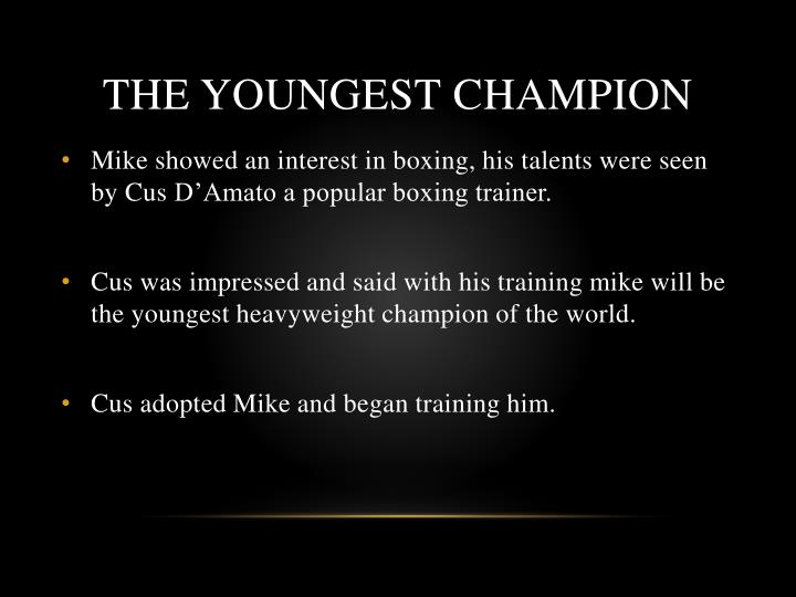 The youngest champion