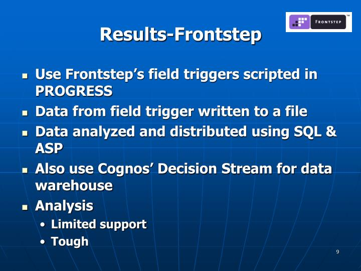Results-Frontstep