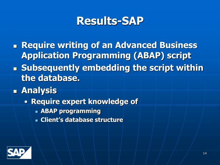 Results-SAP
