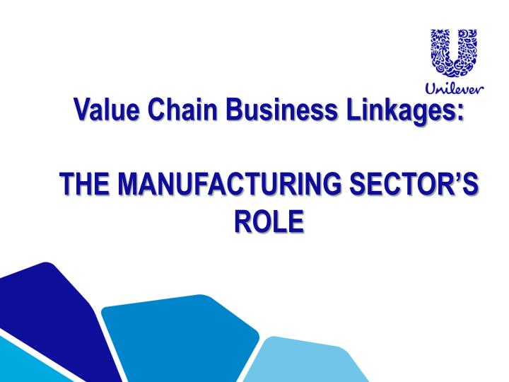 Value Chain Business Linkages: