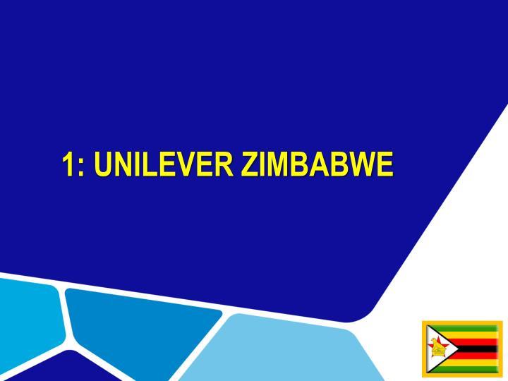 1: UNILEVER ZIMBABWE