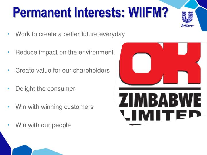 Permanent Interests: WIIFM?