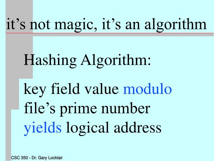 it's not magic, it's an algorithm