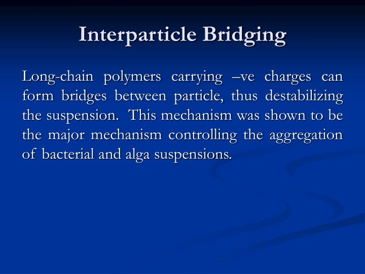 Interparticle Bridging