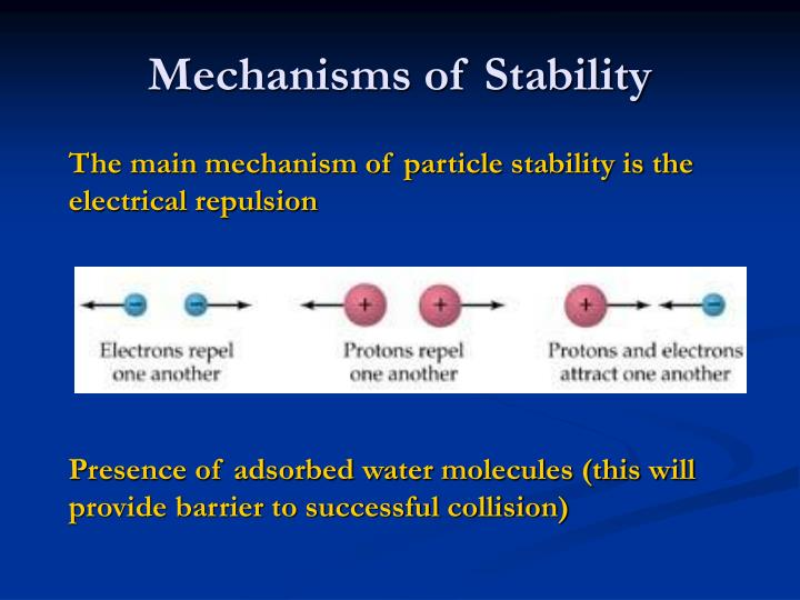 Mechanisms of Stability