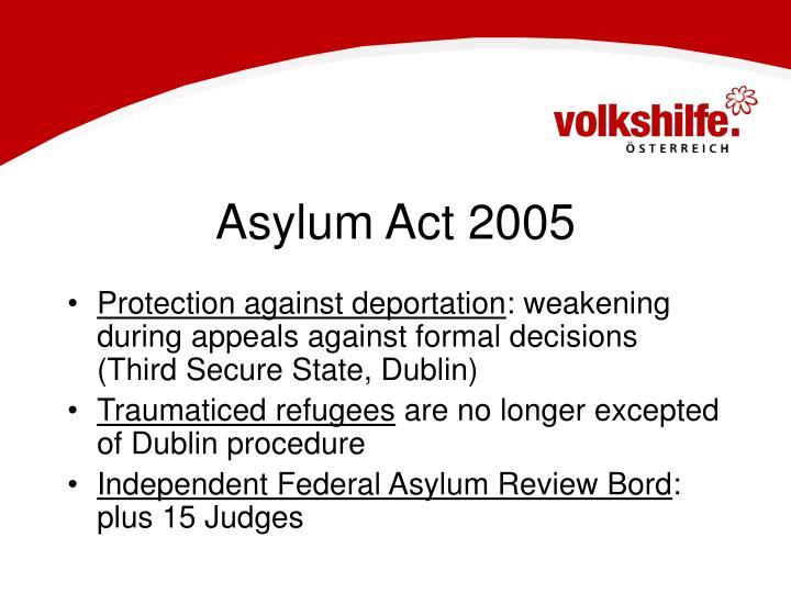 Asylum Act 2005