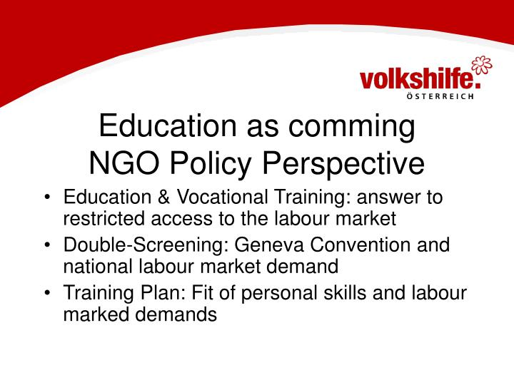 Education as comming
