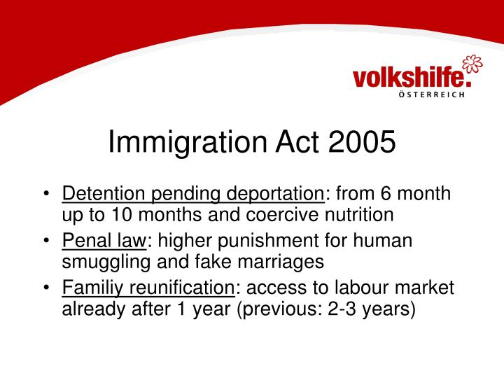 Immigration Act 2005