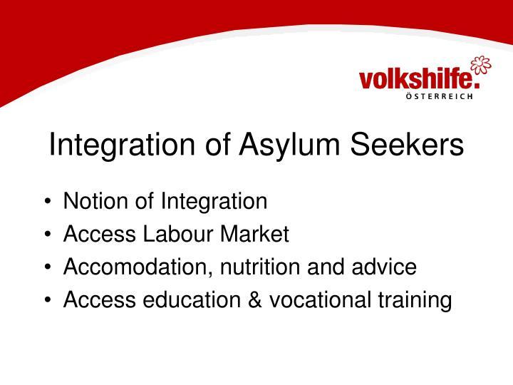 Integration of Asylum Seekers