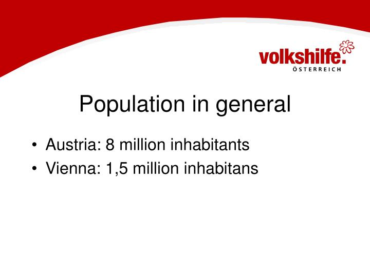 Population in general