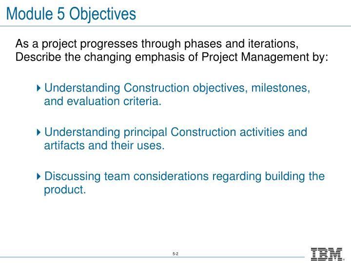 Module 5 Objectives