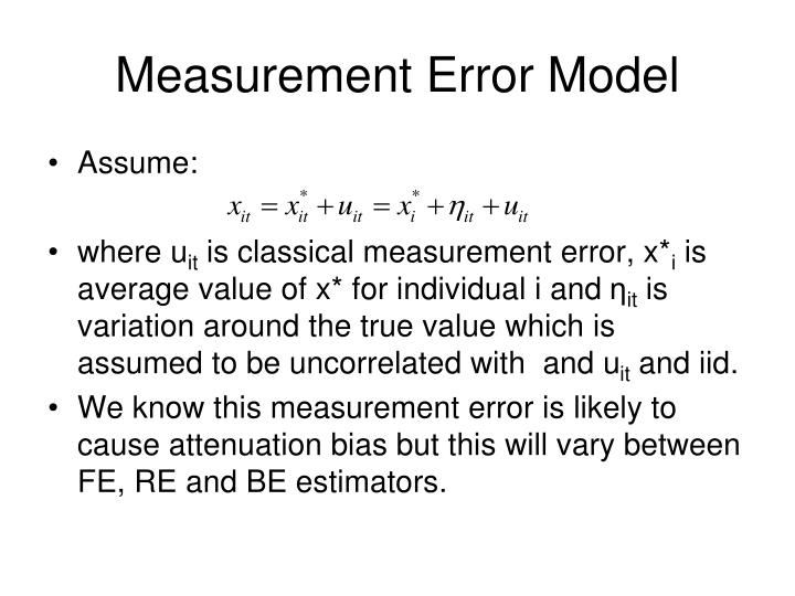 Measurement Error Model