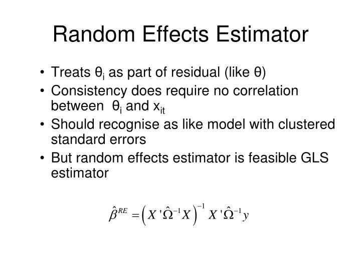Random Effects Estimator