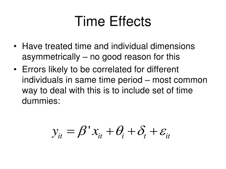 Time Effects
