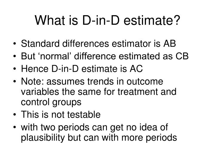 What is D-in-D estimate?
