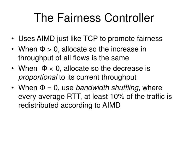 The Fairness Controller