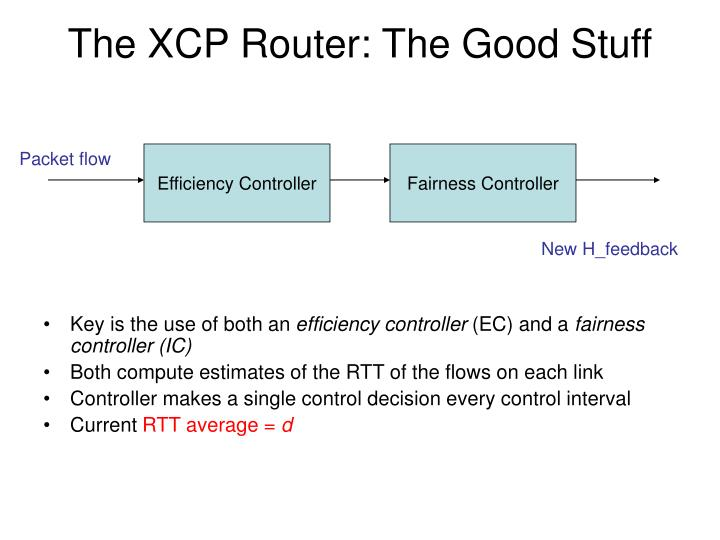 The XCP Router: The Good Stuff