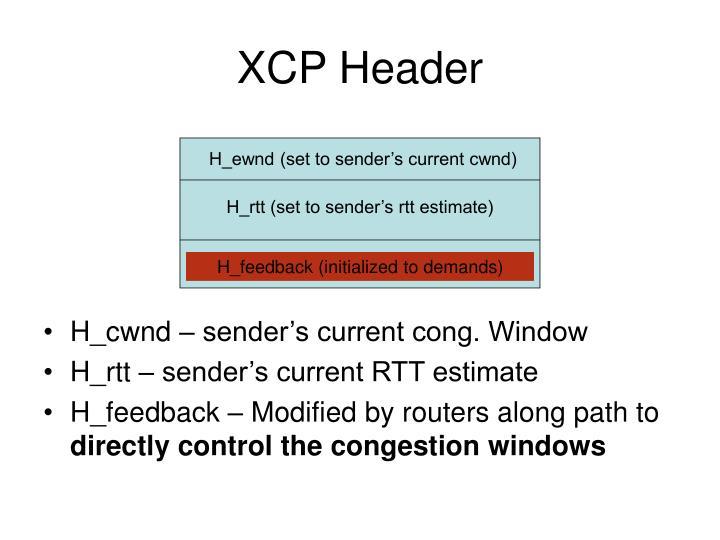 XCP Header