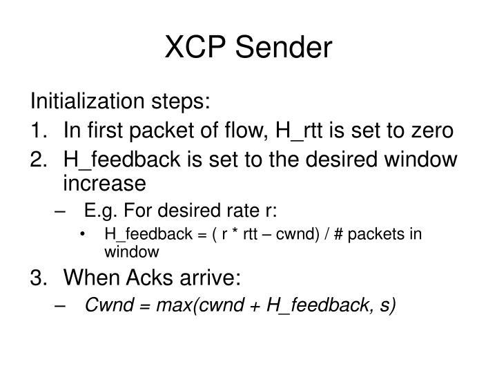 XCP Sender