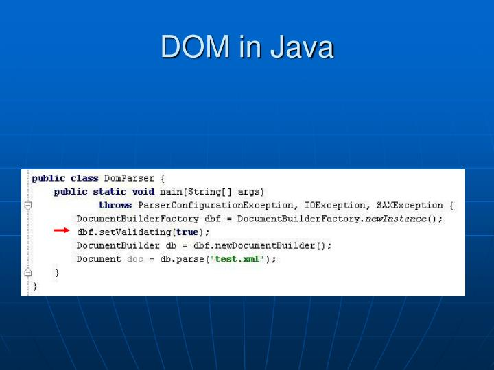 DOM in Java