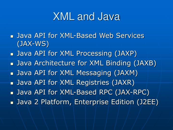 XML and Java