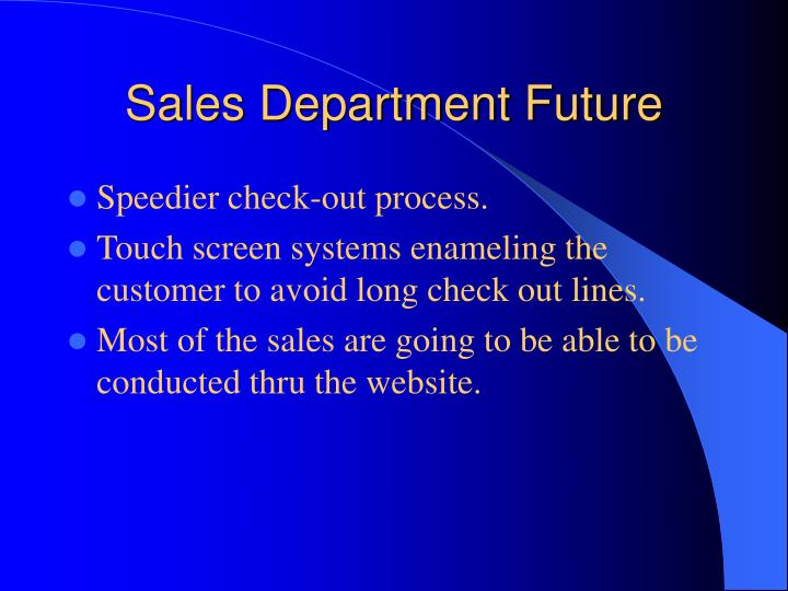 Sales Department Future