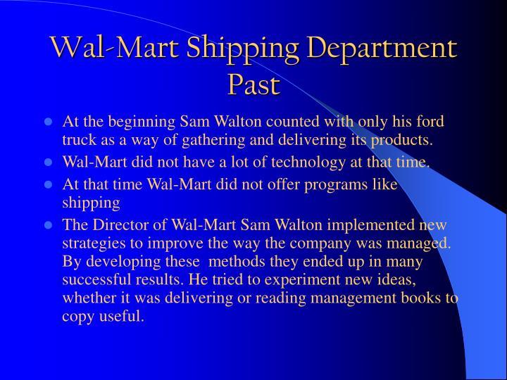 Wal-Mart Shipping Department
