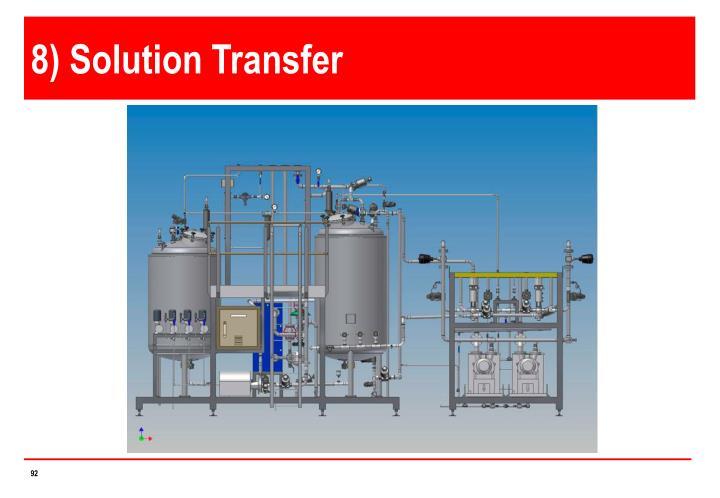 8) Solution Transfer