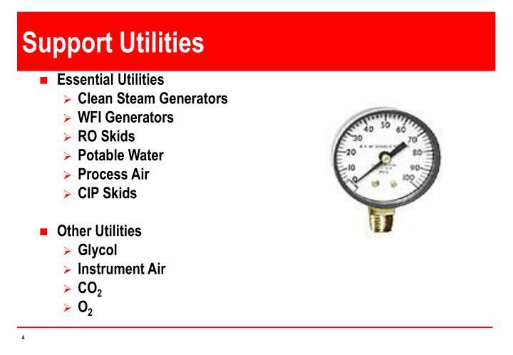 Support Utilities