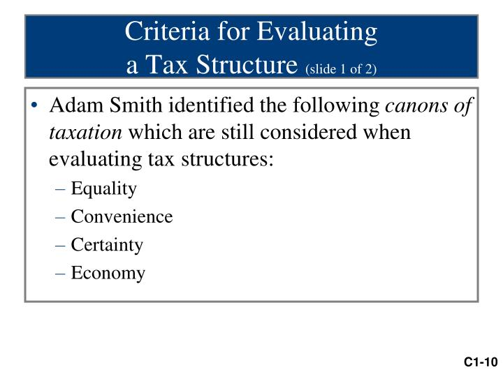 Criteria for Evaluating