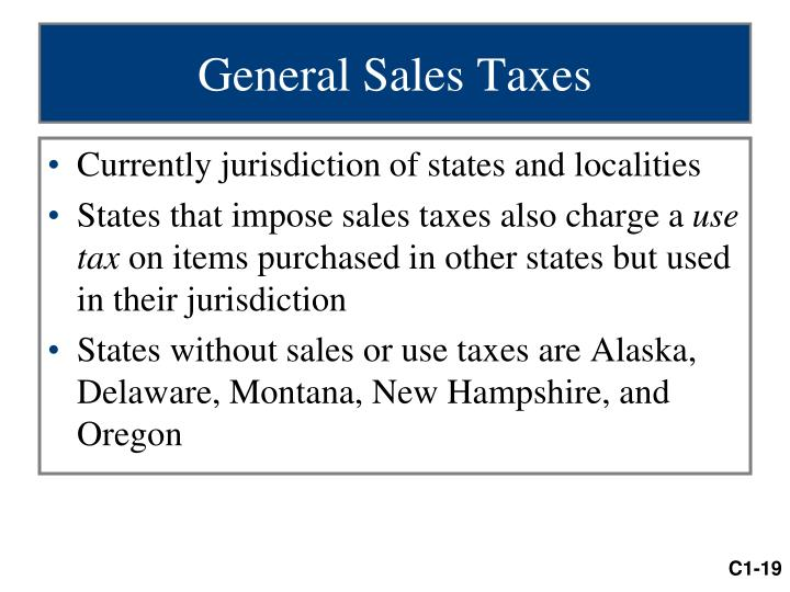 General Sales Taxes