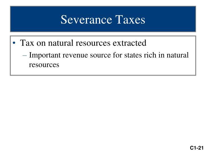 Severance Taxes