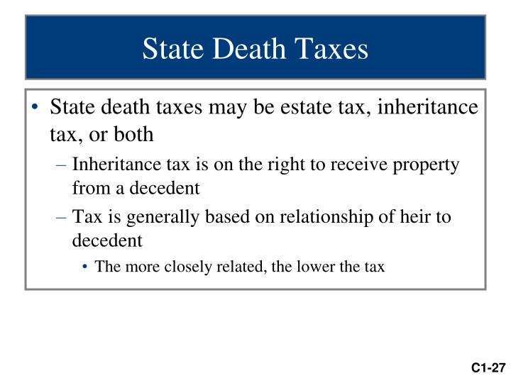 State Death Taxes