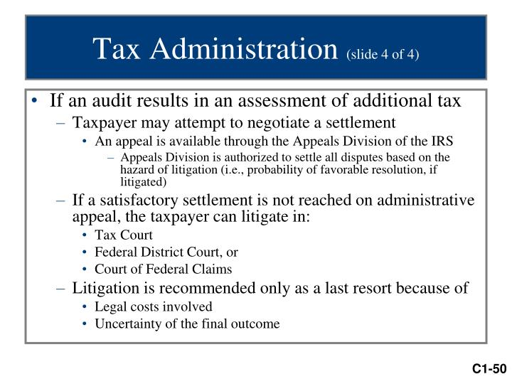 Tax Administration