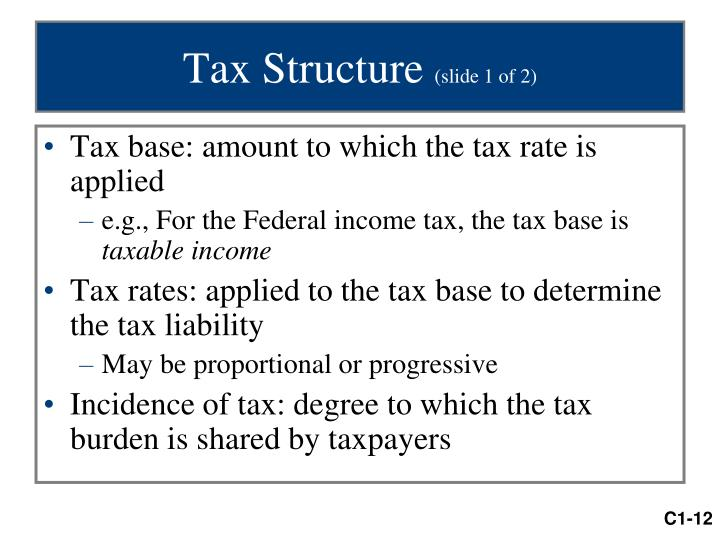 Tax Structure
