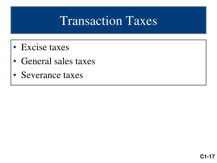 Transaction Taxes