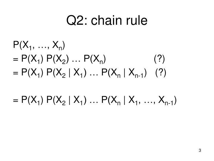 Q2: chain rule