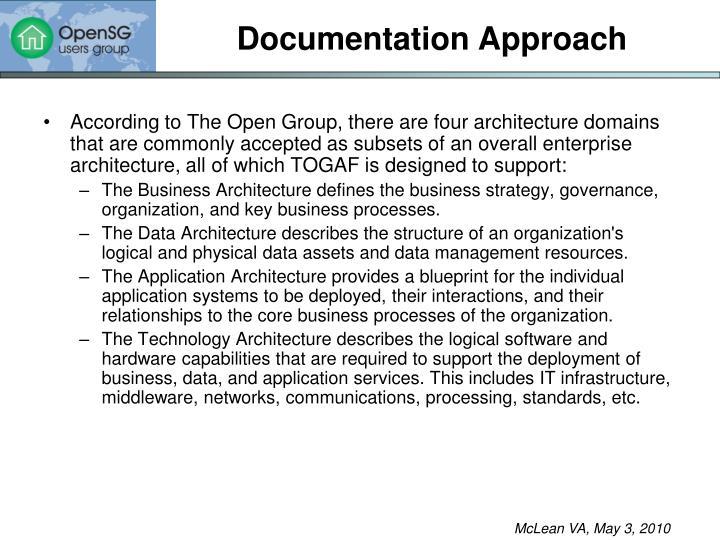 Documentation Approach