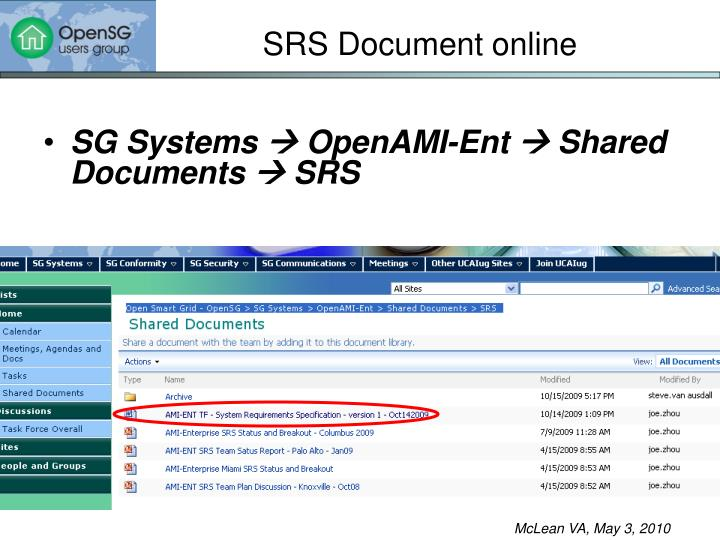 SRS Document online