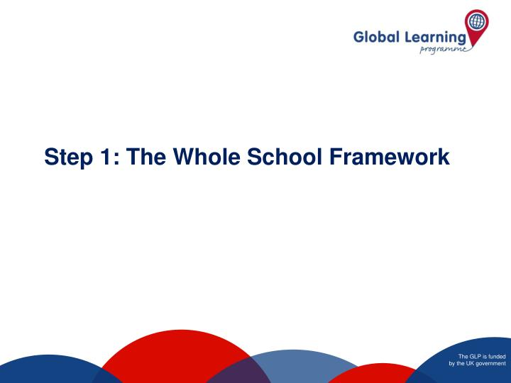 Step 1: The Whole School Framework