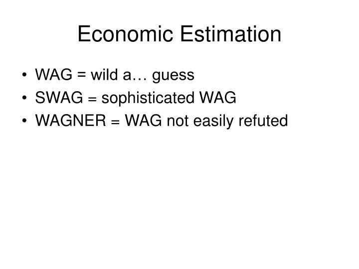 Economic estimation