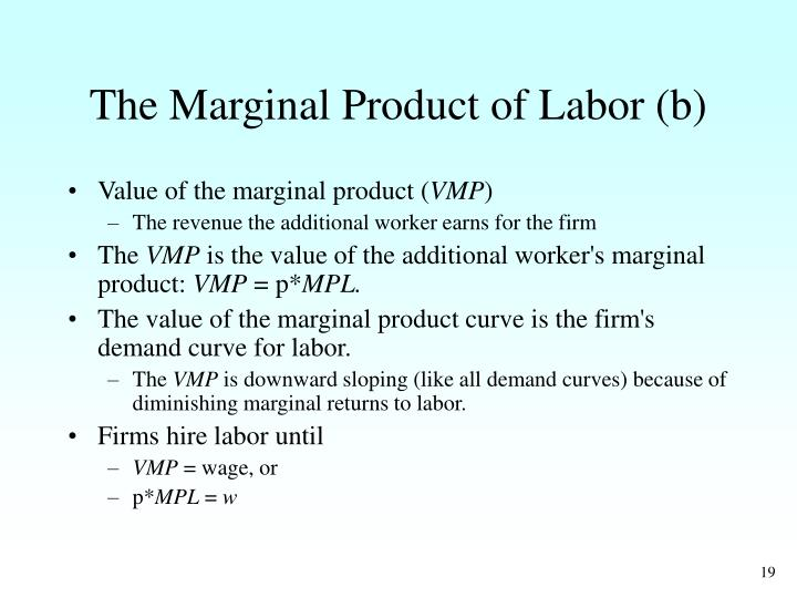 The Marginal Product of Labor (b)
