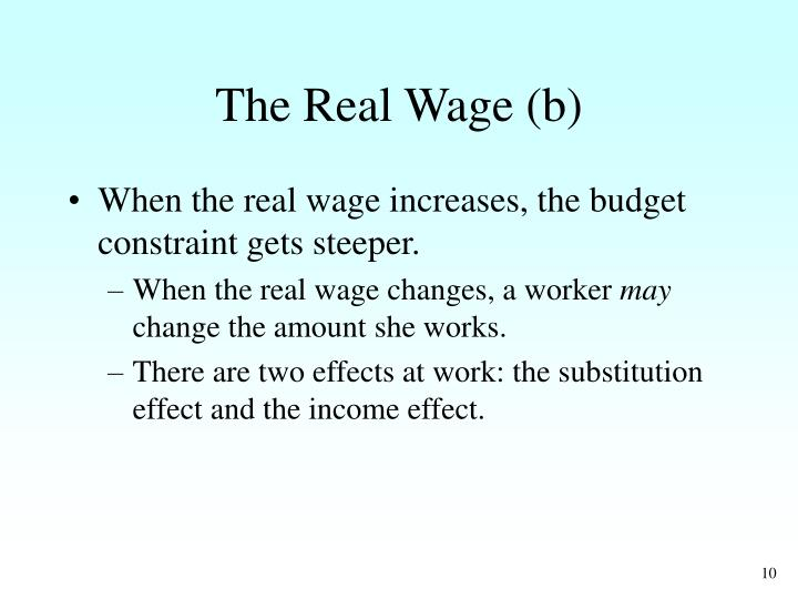 The Real Wage (b)