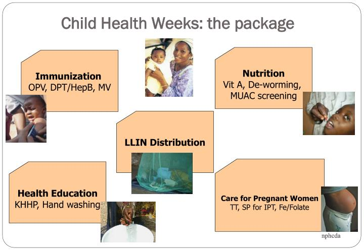 Child Health Weeks: the package